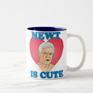 Newt Gingrich 2012 - Newt is Cute Two-Tone Mug