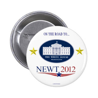 NEWT GINGRICH 2012 political pinback button