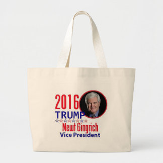 Newt GINGRICH 2016 Jumbo Tote Bag