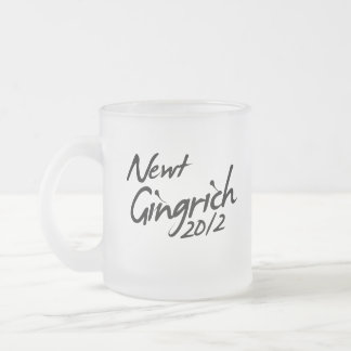 NEWT GINGRICH AUTOGRAPH 2012 MUGS