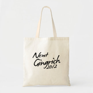 NEWT GINGRICH AUTOGRAPH 2012 TOTE BAGS