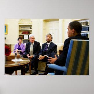 Newt Gingrich, Barack Obama, Jarrett & Sharpton Poster