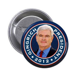 Newt Gingrich Conservative for President 6 Cm Round Badge