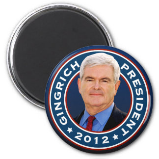 Newt Gingrich Conservative for President 6 Cm Round Magnet