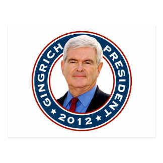 Newt Gingrich Conservative for President Postcard