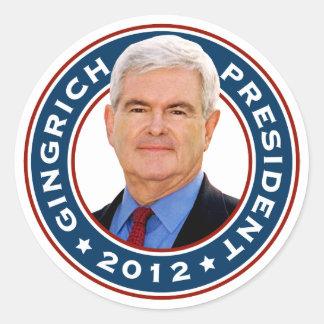 Newt Gingrich Conservative for President Round Sticker