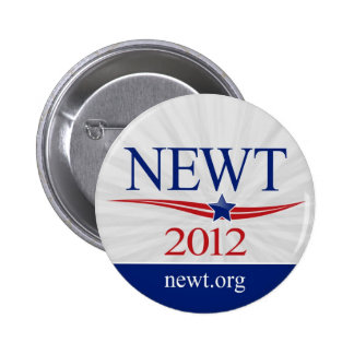 Newt Gingrich for President 2012 6 Cm Round Badge