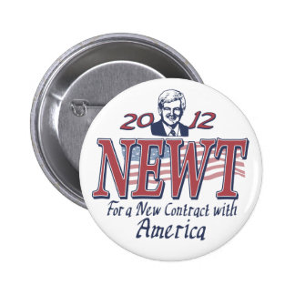 Newt Gingrich for President 2012 Gear 6 Cm Round Badge
