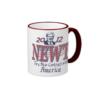 Newt Gingrich for President 2012 Gear Ringer Mug