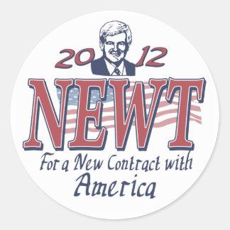 Newt Gingrich for President 2012 Gear Round Sticker