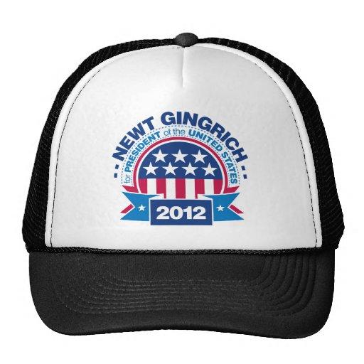Newt Gingrich for President 2012 Trucker Hats