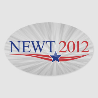 Newt Gingrich for President 2012 Oval Sticker