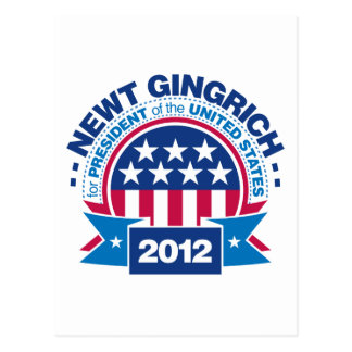 Newt Gingrich for President 2012 Postcard