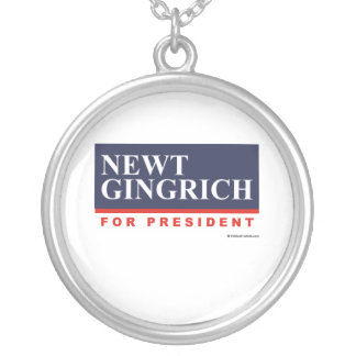 Newt Gingrich for President (2) Round Pendant Necklace