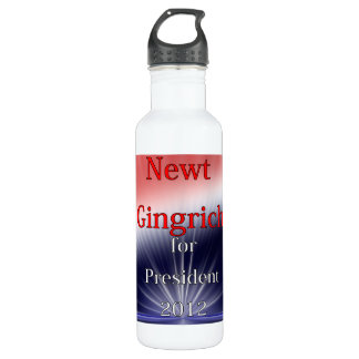 Newt Gingrich For President Dulled Explosion 710 Ml Water Bottle
