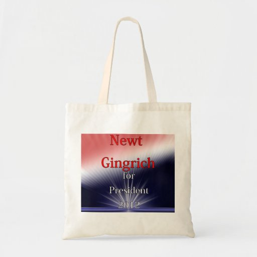 Newt Gingrich For President Dulled Explosion Tote Bag
