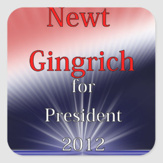 Newt Gingrich For President Dulled Explosion Square Sticker
