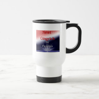Newt Gingrich For President Dulled Explosion Stainless Steel Travel Mug