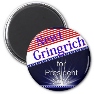 Newt Gingrich For President Explosion 6 Cm Round Magnet