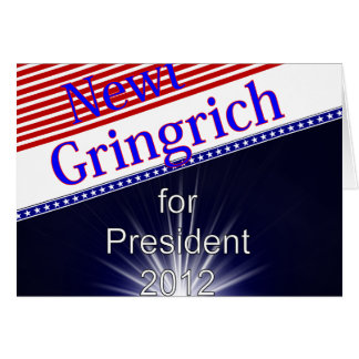 Newt Gingrich For President Explosion Cards
