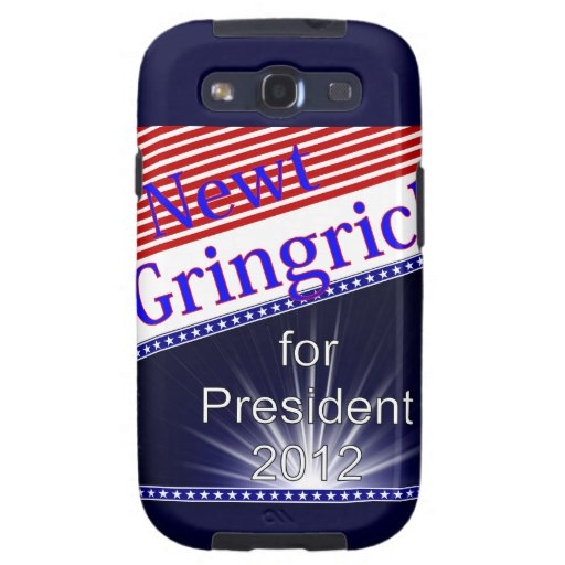 Newt Gingrich For President Explosion Samsung Galaxy S3 Cases