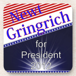 Newt Gingrich For President Explosion Drink Coasters
