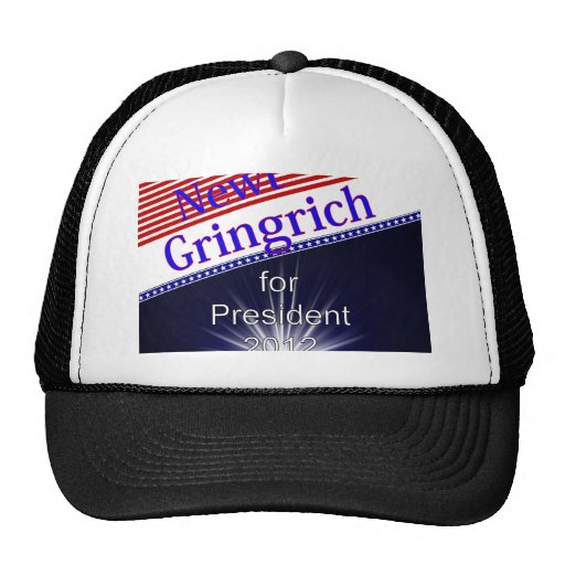 Newt Gingrich For President Explosion Mesh Hat