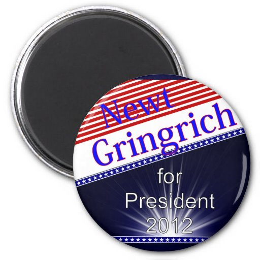 Newt Gingrich For President Explosion Magnet