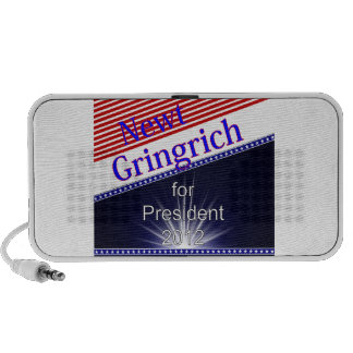 Newt Gingrich For President Explosion iPhone Speakers