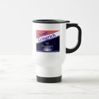 Newt Gingrich For President Explosion Stainless Steel Travel Mug