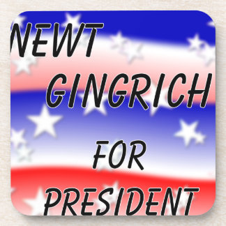 Newt Gingrich For President Fading Red White & Blu Drink Coasters