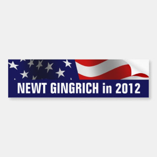 Newt Gingrich for President in 2012 Bumper Sticker