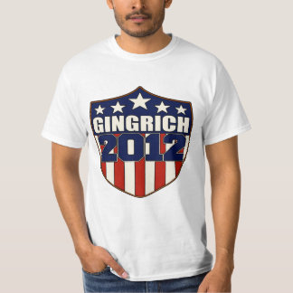 Newt Gingrich for President in 2012 Tshirt