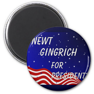 Newt Gingrich For President Night Sky 6 Cm Round Magnet