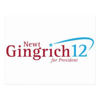 Newt Gingrich for President Postcard