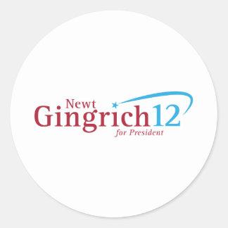 Newt Gingrich for President Round Sticker