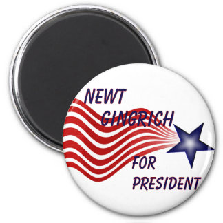 Newt Gingrich For President Shooting Star 6 Cm Round Magnet