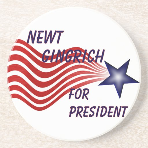 Newt Gingrich For President Shooting Star Beverage Coaster