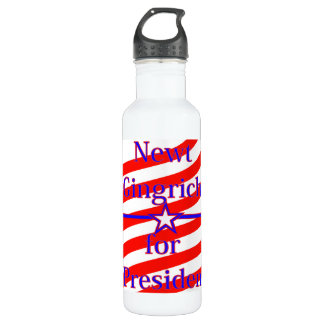 Newt Gingrich For President Strips With 3 Stars An 710 Ml Water Bottle