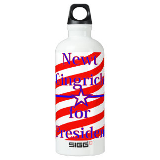 Newt Gingrich For President Strips With 3 Stars An SIGG Traveller 0.6L Water Bottle