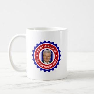 Newt Gingrich for US President 2012 Basic White Mug