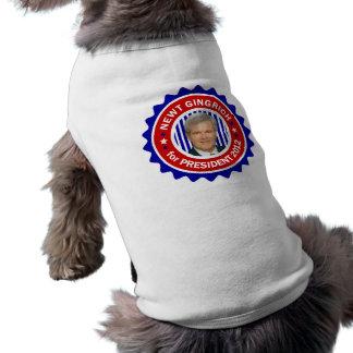 Newt Gingrich for US President 2012 Doggie Shirt