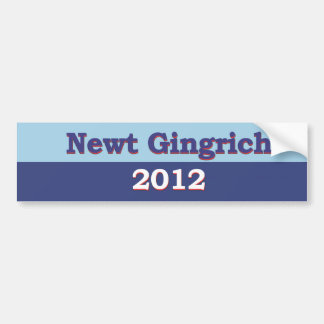 Newt Gingrich Political Bumper Sticker