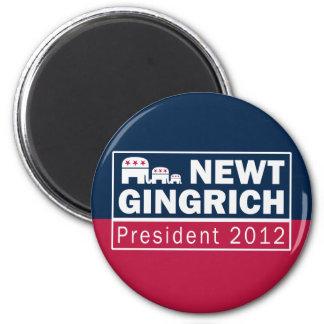 Newt Gingrich President 2012 Republican Elephant 6 Cm Round Magnet
