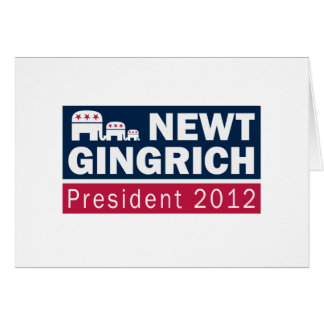 Newt Gingrich President 2012 Republican Elephant Greeting Card