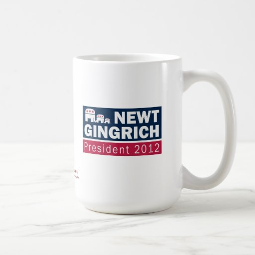 Newt Gingrich President 2012 Republican Elephant Mugs