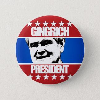 Newt Gingrich - President 6 Cm Round Badge