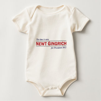 Newt Gingrich The Time is Now President 2012 Baby Bodysuit