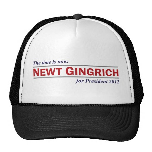Newt Gingrich The Time is Now President 2012 Mesh Hat