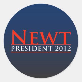 Newt President 2012 Round Sticker